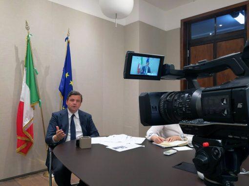 Diretta Web Ministro Carlo Calenda da Roma a Milano